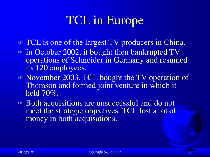 TCL in Europe