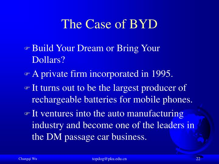 The Case of BYD