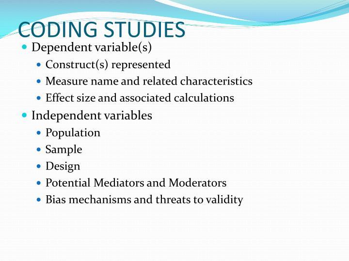 CODING STUDIES