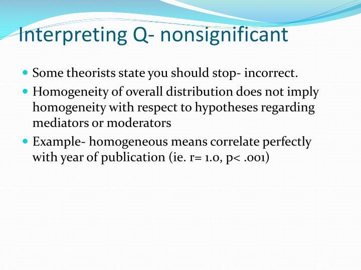 Interpreting Q-