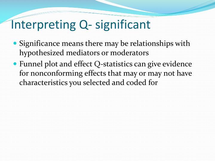 Interpreting Q- significant