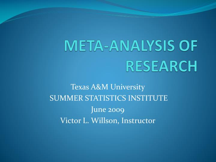 Meta analysis of research