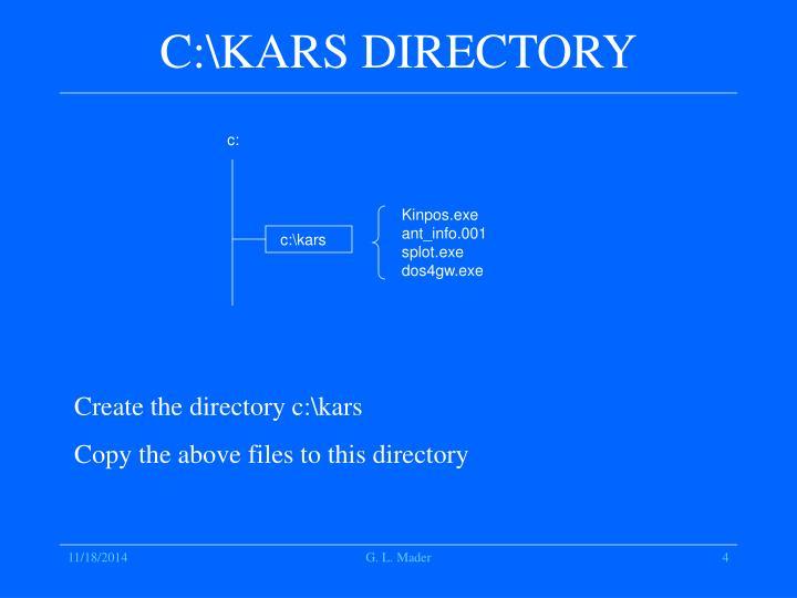 C:\KARS DIRECTORY