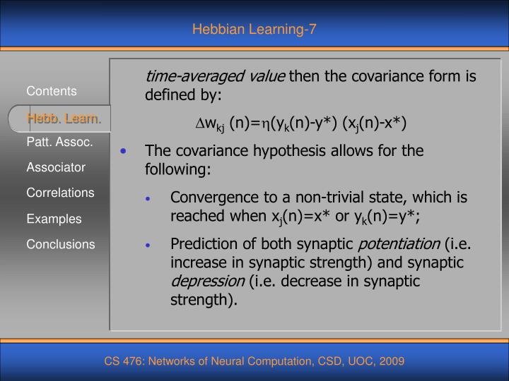 Hebbian Learning-7