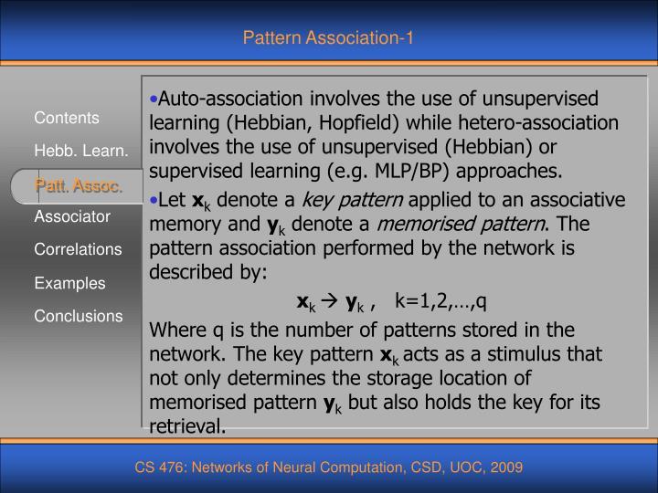 Pattern Association-1
