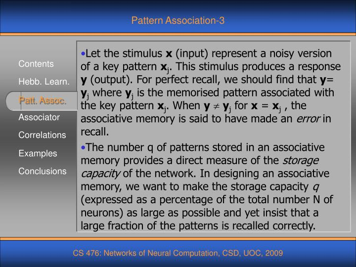 Pattern Association-3