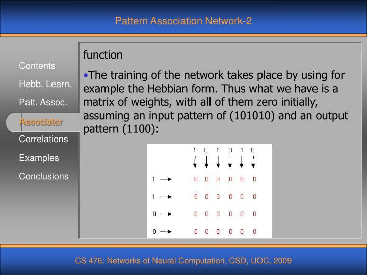 Pattern Association Network-2