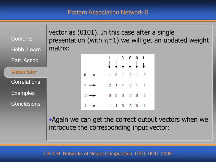 Pattern Association Network-5