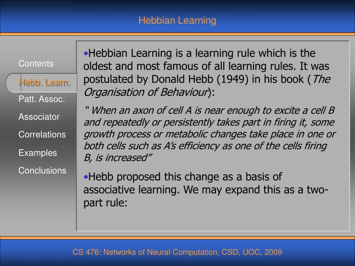 Hebbian Learning
