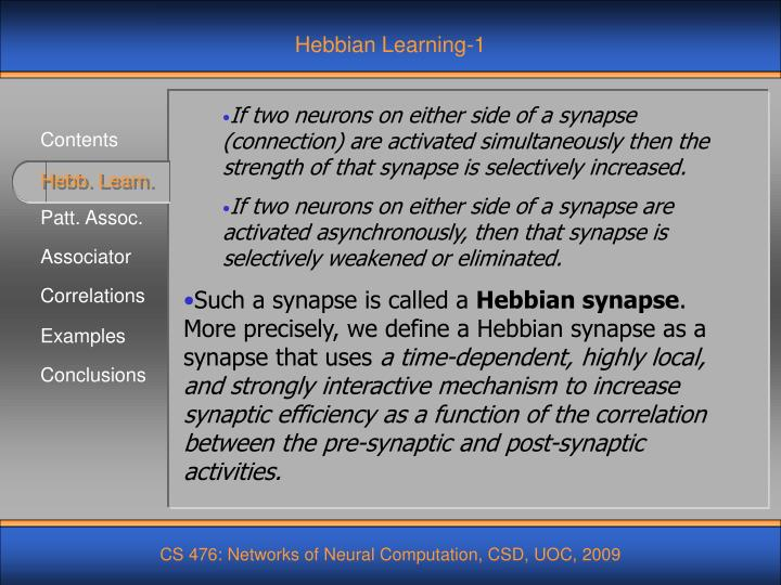 Hebbian Learning-1