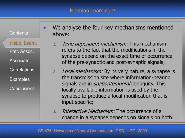 Hebbian Learning-2