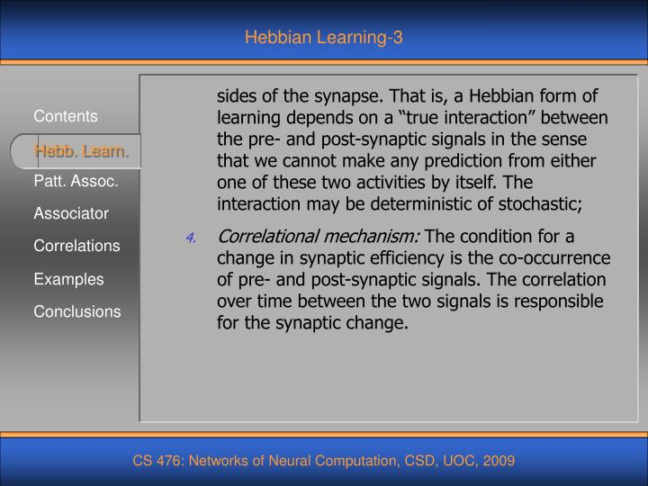Hebbian Learning-3