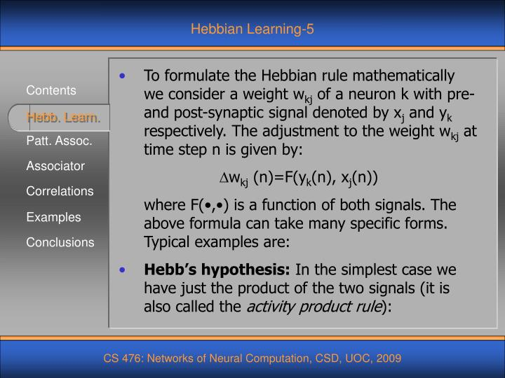 Hebbian Learning-5