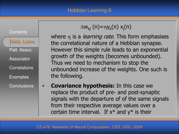 Hebbian Learning-6