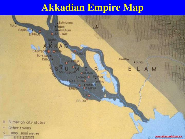 Akkadian Empire Map