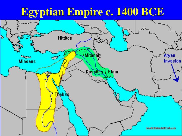 Egyptian Empire c. 1400 BCE