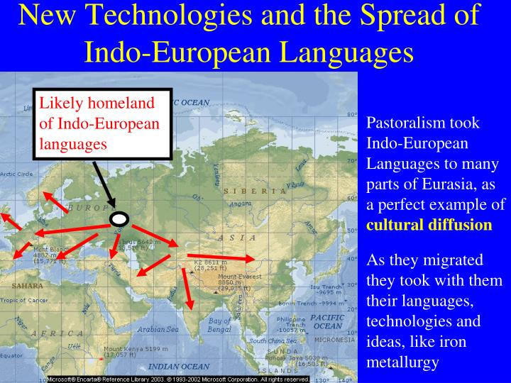 Likely homeland of Indo-European languages