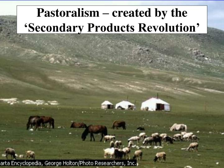 Pastoralism – created by the 'Secondary Products Revolution'