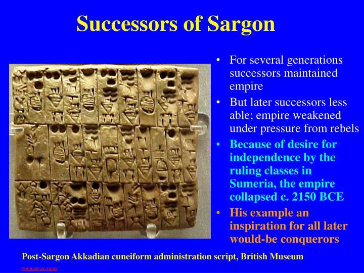 Successors of Sargon