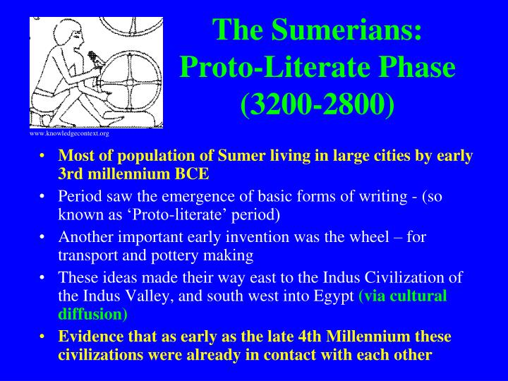 The Sumerians: Proto-Literate Phase (3200-2800)