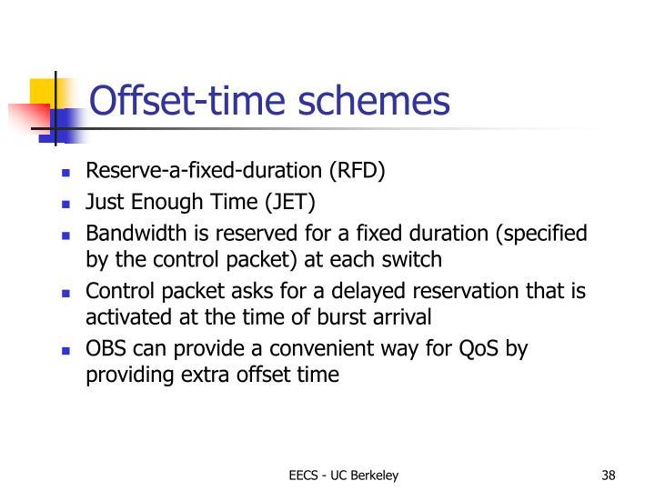 Offset-time schemes