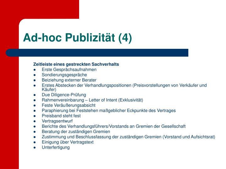 Ad-hoc Publizität (4)