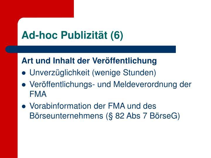 Ad-hoc Publizität (6)