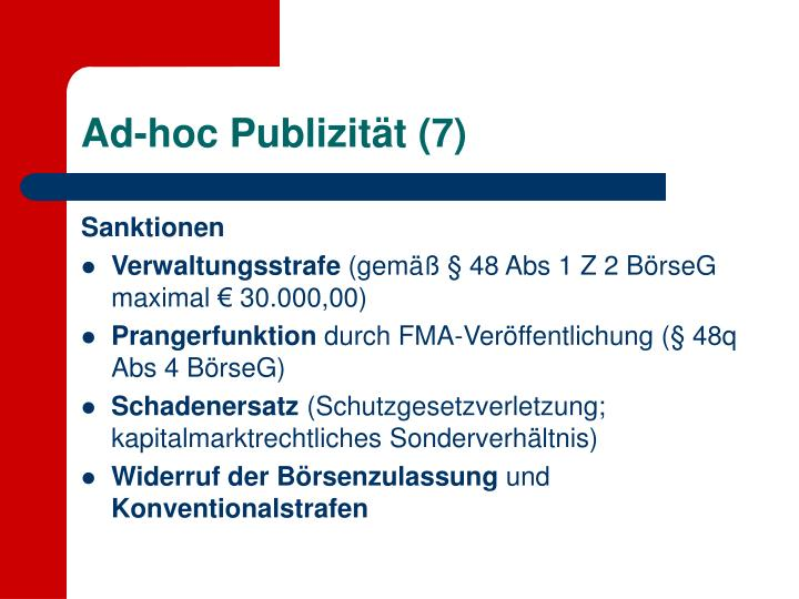 Ad-hoc Publizität (7)