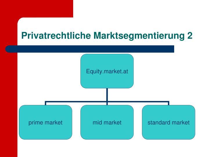 Privatrechtliche Marktsegmentierung 2