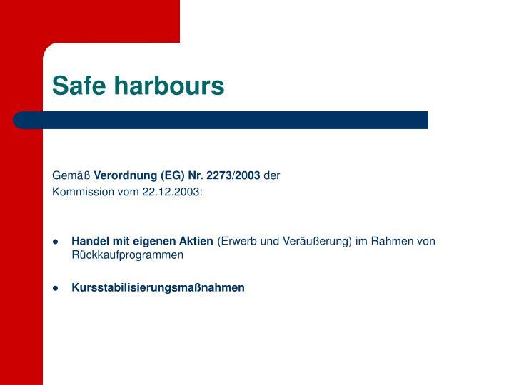 Safe harbours