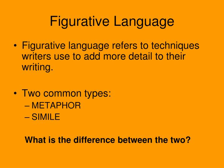 metaphor and language techniques