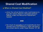 shared cost modification1