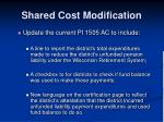 shared cost modification8