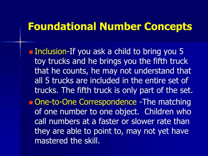 Foundational Number Concepts