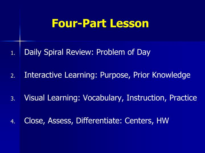 Four-Part Lesson