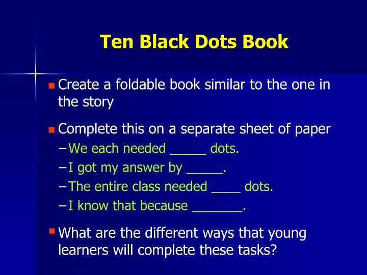 Ten Black Dots Book