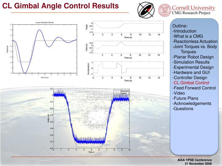 CL Gimbal Angle Control Results