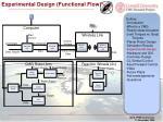 experimental design functional flow