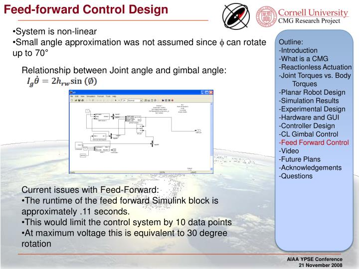 Feed-forward Control Design