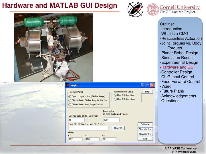Hardware and MATLAB GUI Design