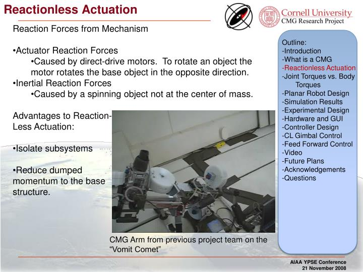 Reactionless Actuation
