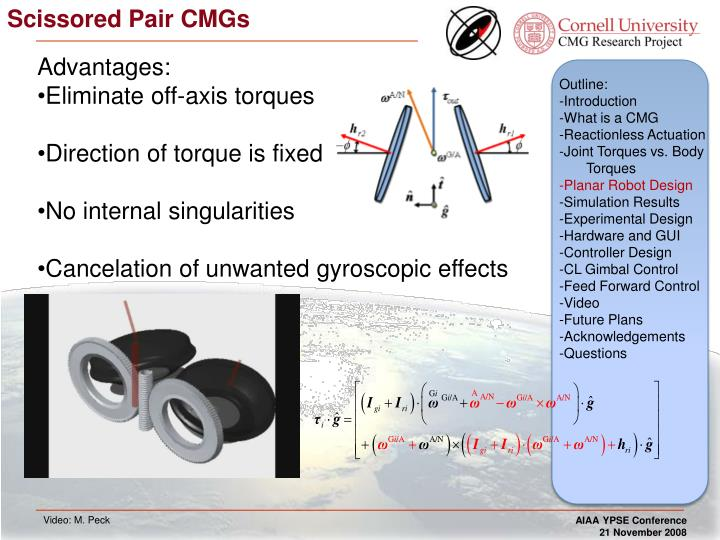Scissored Pair CMGs