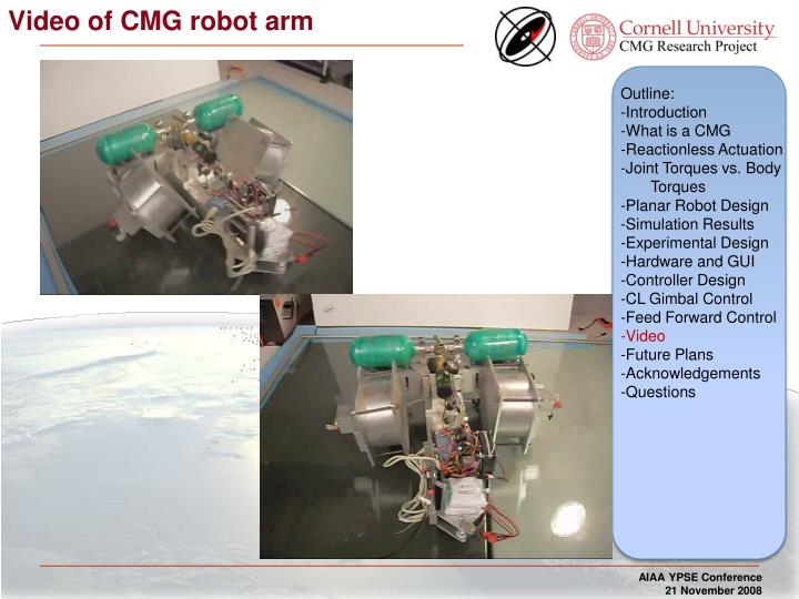 Video of CMG robot arm
