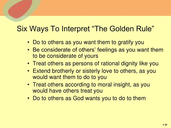 "Six Ways To Interpret ""The Golden Rule"""