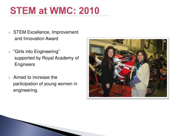 STEM at WMC: 2010