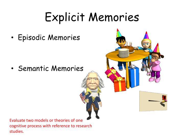 Explicit Memories