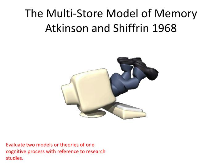 The multi store model of memory atkinson and shiffrin 1968