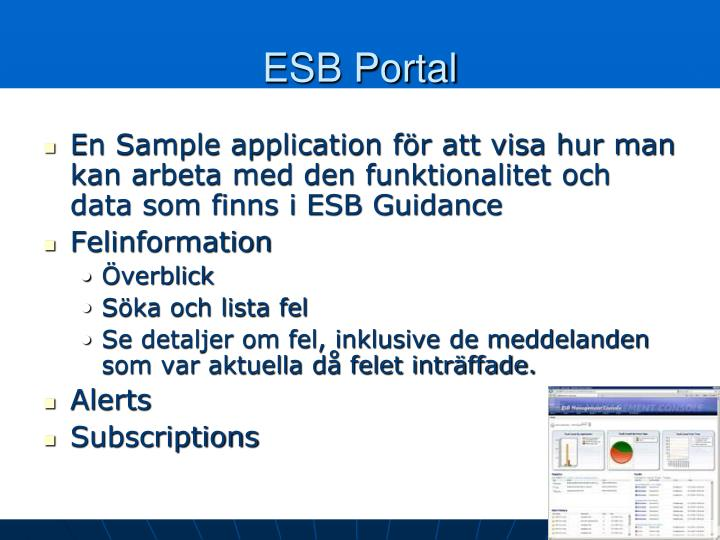 ESB Portal