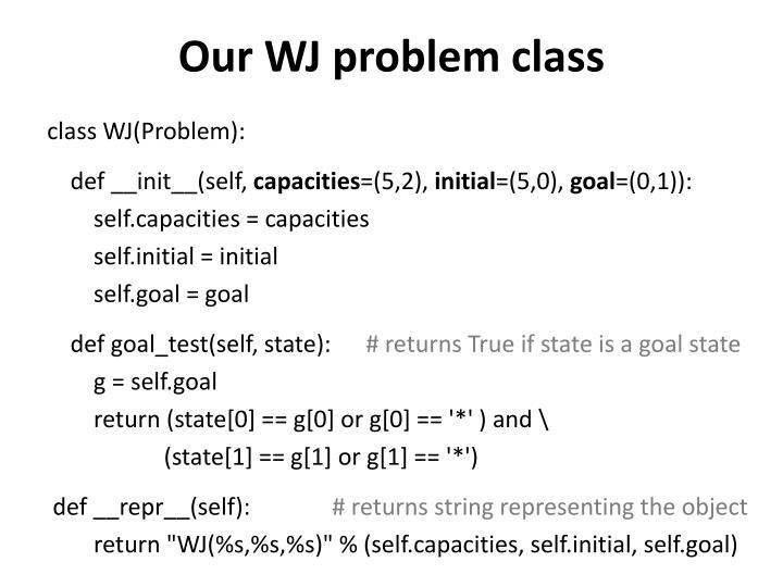 Our WJ problem class