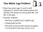 two water jugs problem